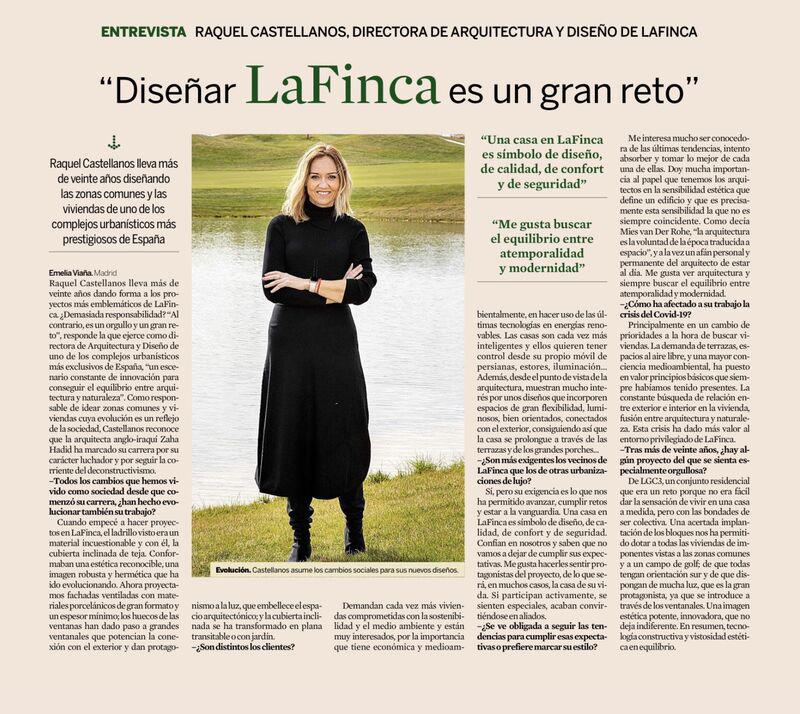 Entrevista a Raquel Castellanos - Directora de Aquitectura y diseño de LaFinca en Expansión, casas y estilo de vida